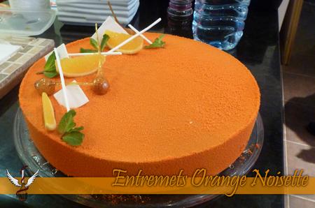 Entremet Orange noisette