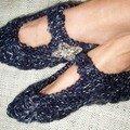 Pantoufles de poche bleus