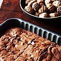 Brownie décadent et sans beurre : chocolat / pointe de fleur de sel...