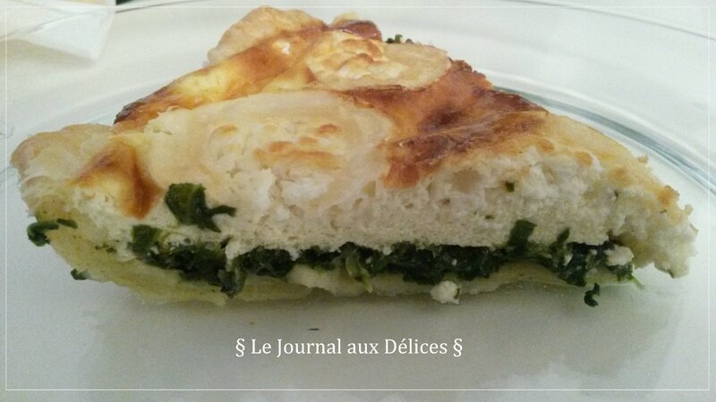 quiche chevre epinards