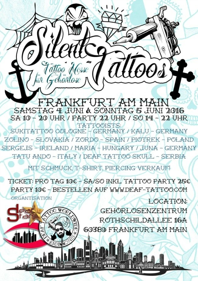 convention international Tattoo Convention sourds 04-05 Juin 2016 Francfort