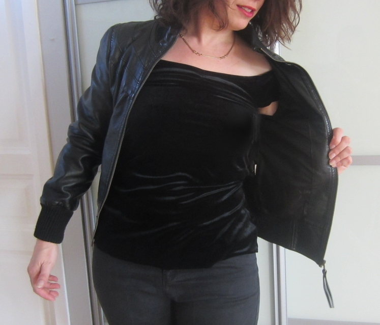 veste cuir grease