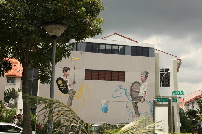 Fresque murale d'Ernest Zacharevic