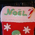 Gâteau chaussette de Noël détail