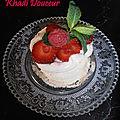 Mini pavlova aux fraises et framboises