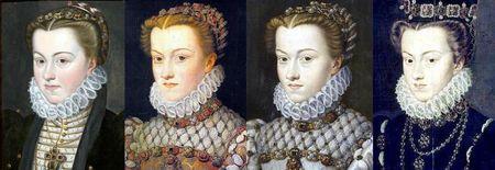 Portraits d'Elisabeth d'Autriche reine de France