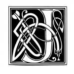 lettre typo celtique J