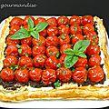 Tarte feuilletée arlequin aux tomates cerises
