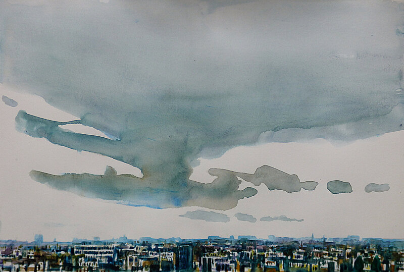 K'nowhere 86 sept 2017, aquarelle, 41 x 28 cm