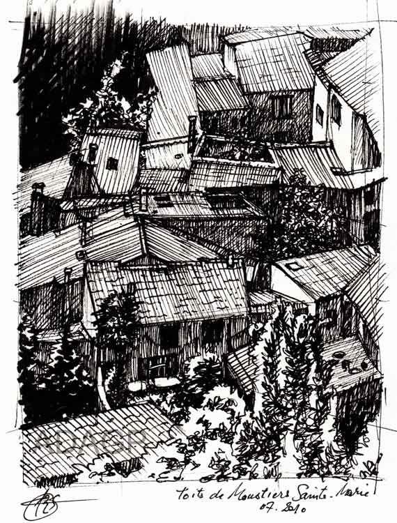 Enchevêtrement de toits
