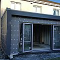Building a kitchen extension : demolition and superstructure