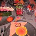 table brune orange