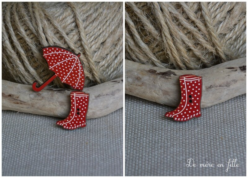 petites bottes rouge