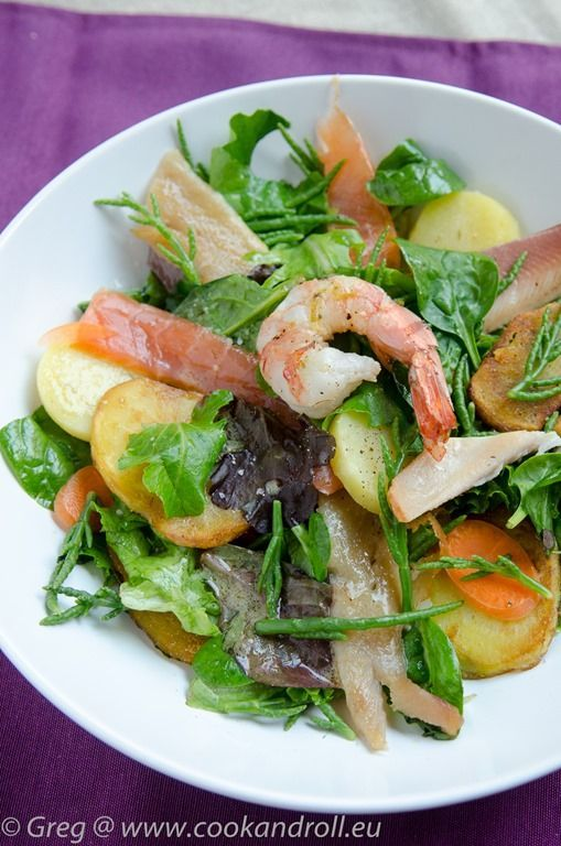 Salade de poissons fum s et salicorne cook 39 n 39 roll for Salade poisson