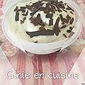 Crème glacée banane copeaux de chocolat