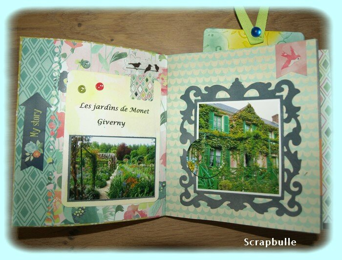 Mini-album Giverny-Scrapbulle-F