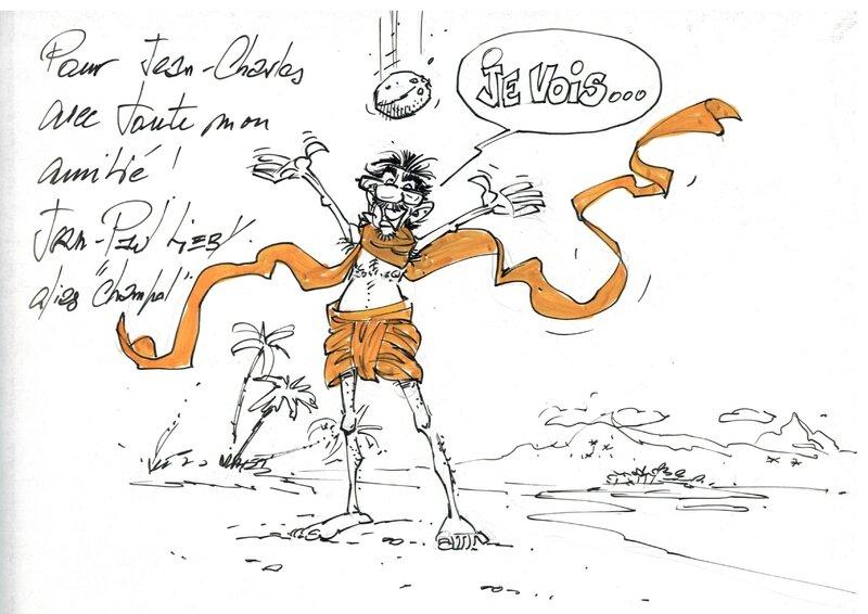 Jean-Charles Sellier dessiné par Champol caricaturiste