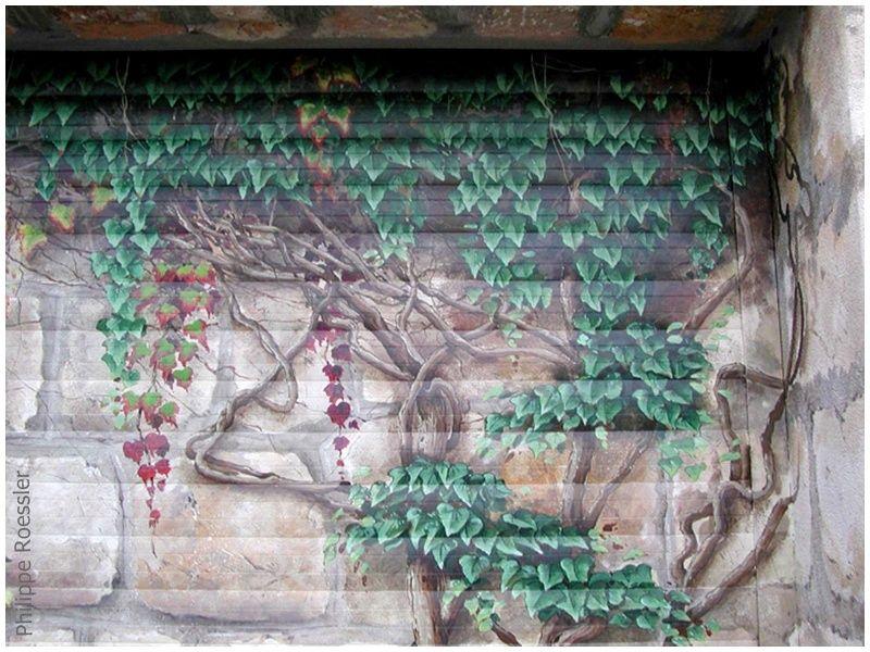 Trompe LOeil Sur Porte De Garage  Philippe Roessler Artiste Peintre