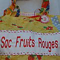 Le sac fruits rouges