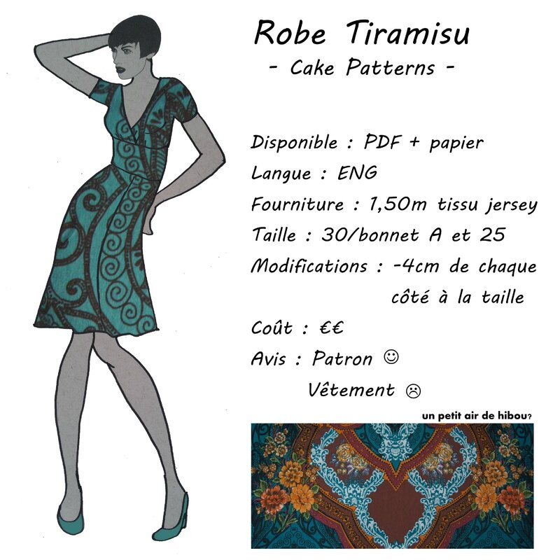 Fiche Technique - Robe Tiramisu - Cake Patterns
