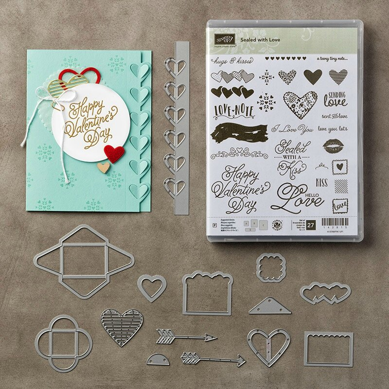 144705G Sealed With Love Photopolymer Stamp Set