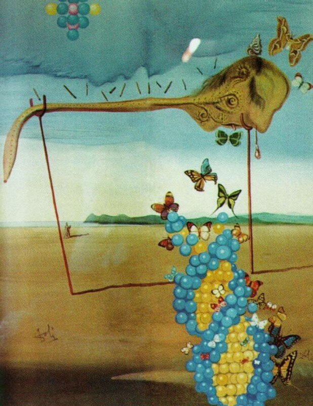 _Butterfly Landscape (The Great Masturbator in a Surrealist Landscape with D.N.A.), 1957-58.