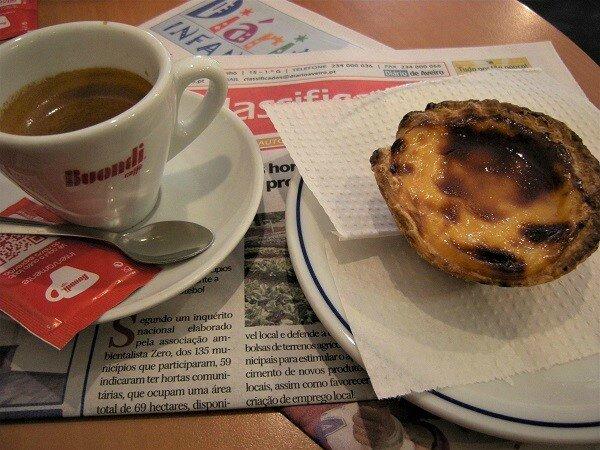 Aveiro - pause cafe et pasteis de nata