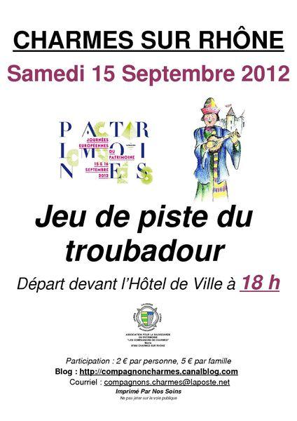 Affiche Charmes JdP 2012