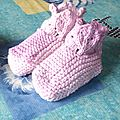 Chaussons roses 2