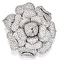 Platinum and Diamond Brooch - Sotheby's