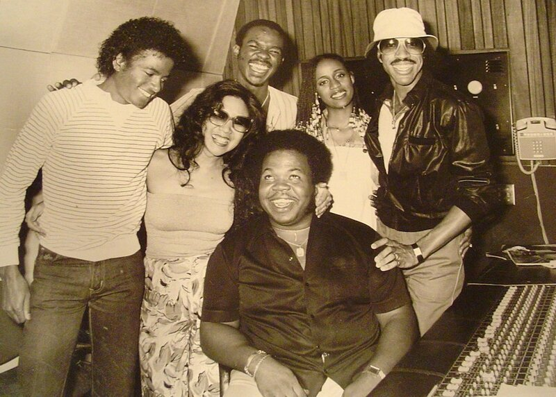 Michael Jackson, Susie Akita, unknown, Brenda Richie, and Lionel Richie reginald reggie dozier
