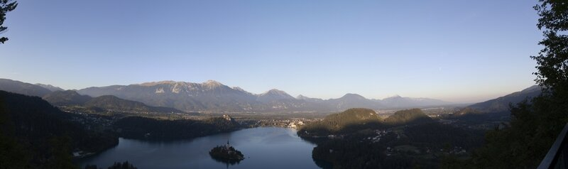 Panorama lac Bled