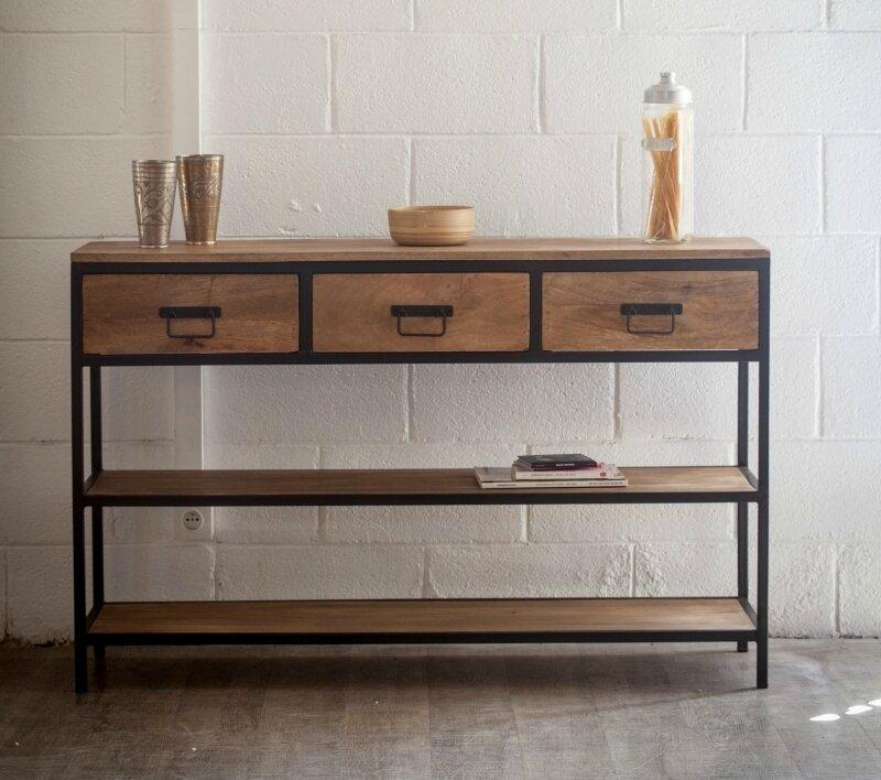 console-metal-et-bois-a-tiroirs-meubles-et-rangements-par-sweet-en-haut-awesome-en-plus-de-interesting-meuble-console-metal-dans-ajaccio