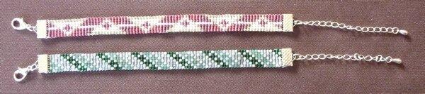 Bracelets rose et vert