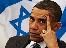 Obama and israeli flag