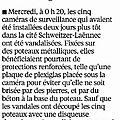 Résidence schweitzer-laënnec : les caméras dégradées !!