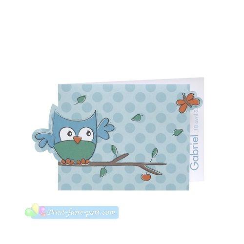 pirouette faire part oiseau bleu perch et papillon print faire part. Black Bedroom Furniture Sets. Home Design Ideas