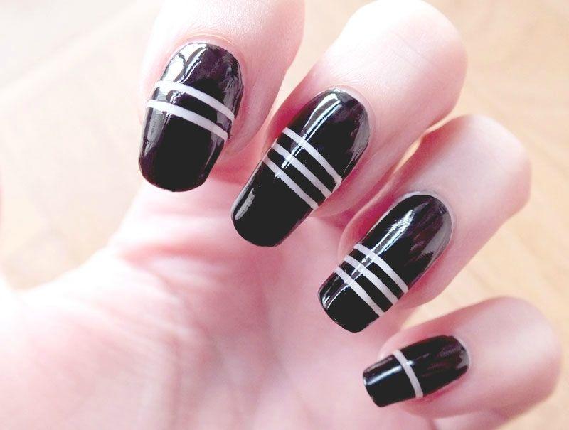 Nail-art-noir-et-blanc-elf