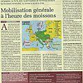 Guerre 1914-1918: la mobilisation générale en plein été 14 (article la terre)