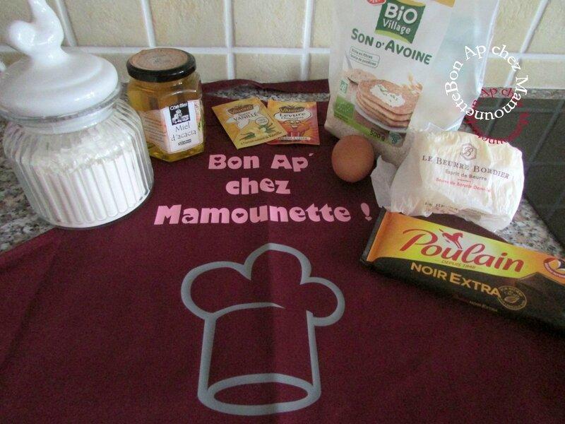 cookies au son d'avoine miel d'acacia et pépites de chocolat 001