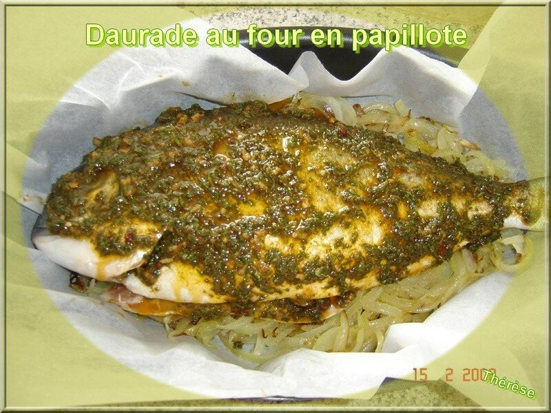 Recette de th r se daurade au four en papillote la table de mamou - Recette daurade royale au four ...