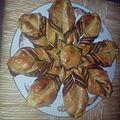 Etoile feuilletée à la pâte à tartiner.