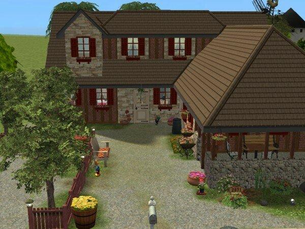 La bergerie modifi e maisons deco sims2 for Modele maison sims 2