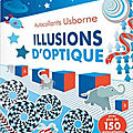 Illusions d'optique [cahier d'autocollants]