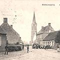 Bixschoote : sur la place de l'église