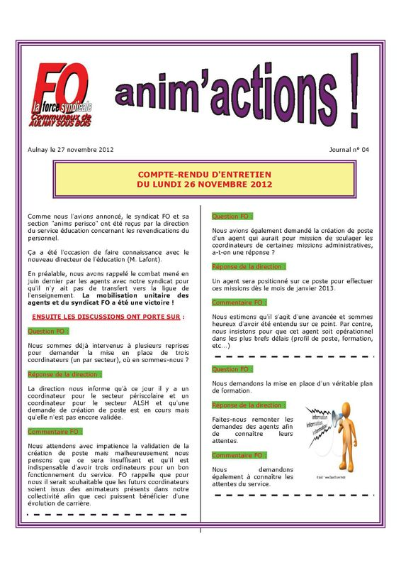 Aulnay animperisco JOURNAL N° 04