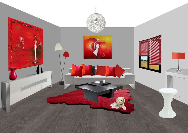 dessin d un salon. Black Bedroom Furniture Sets. Home Design Ideas