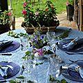 Table bleue pour Annabelle 2011