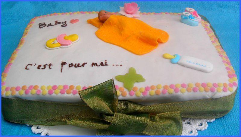 """gâteau """"annonce naissance"""" - les gourmandises de julie"""