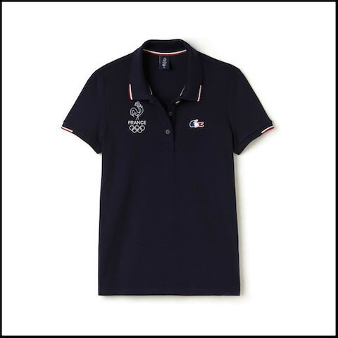 lacoste olympique france polo marine